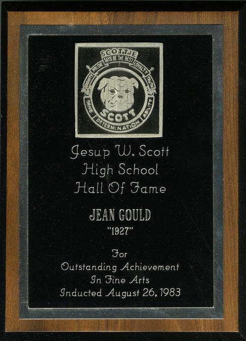 Jean Gould's Jesup W. Scott High School Hall of Fame Award