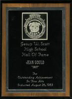 "Jean Gould ""1927"" For Outstanding Achievement in Fine Arts"