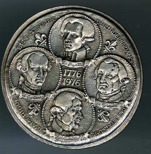 The obverse view of the bicentennial medal