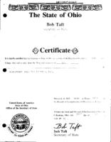 Articles of Incorporation (1992), facsimile