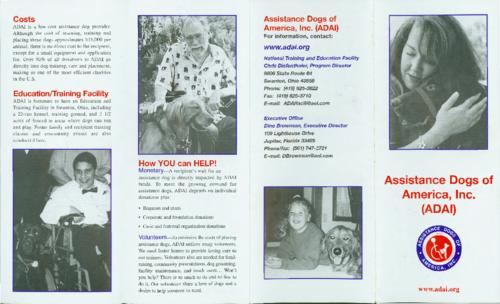 An ADAI pamphlet providing an overview of services and resources for people with disabilities