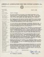 Letter from Eleanor Roosevelt to Gustavus Ohlinger