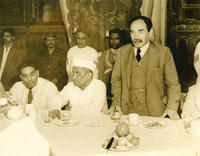 Chandrasekhar with Bombay mayor S. K. Patel