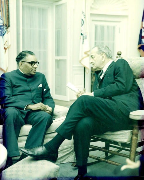 Chandrasekhar met with U.S. President Lyndon B. Johnson, who promised that although the U.S. was cutting back on foreign aid, it would continue to support India's family planning program.