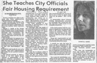 She Teaches City Officials Fair Housing Requirement