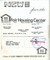 News from the Fair Housing Center, Vol. 1. No. 1