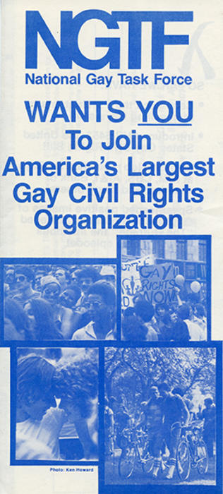 Largest gay civil rights organization (pamphlet cover)