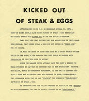 Kicked Out of Steaks & Eggs