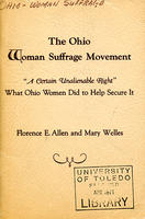 The Ohio Woman Suffrage Movement