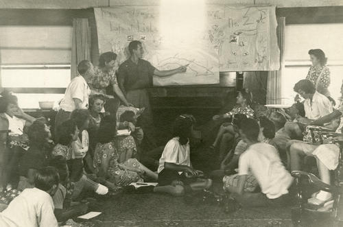 Undated photo of  a Lisle group meeting