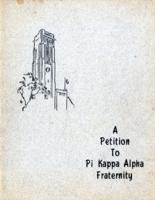 Petition to Pi Kappa Alpha Fraternity