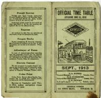 Official Time Table, Sept., 1913