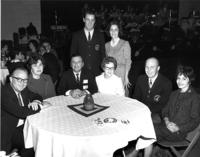 Ed Schmakel and others at the 1967 Homecoming