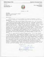 Department of Neurological Surgery Letter