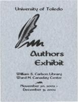 The University of Toledo Authors Exhibit, November 20, 2002- December 31, 2002