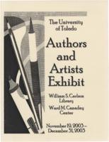 The University of Toledo Authors & Artists Exhibit, November 19, 2003- December...
