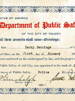 Daniel French Collection of Toledo Police Records, 1920-1929, MSS-304